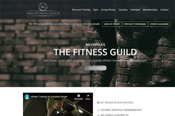 Revue Design, Belleville - Website Design for The Fitness Guild