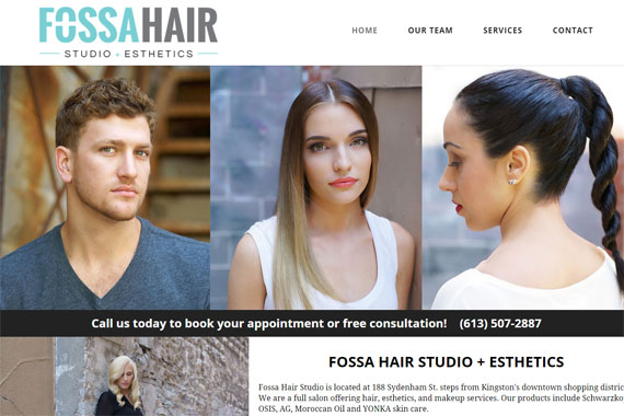 Revue Design, Belleville - Website Design for Fossa Hair